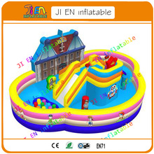 Free sea shipping inflatable bouncer city for children / big inflatable jumping house / commerical inflatable fun land at use