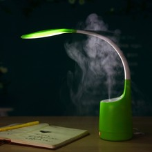 Mini Usb Air Ultrasonic Cool Mist Humidifier with Table Desk Lamp Light Air Freshener(China)