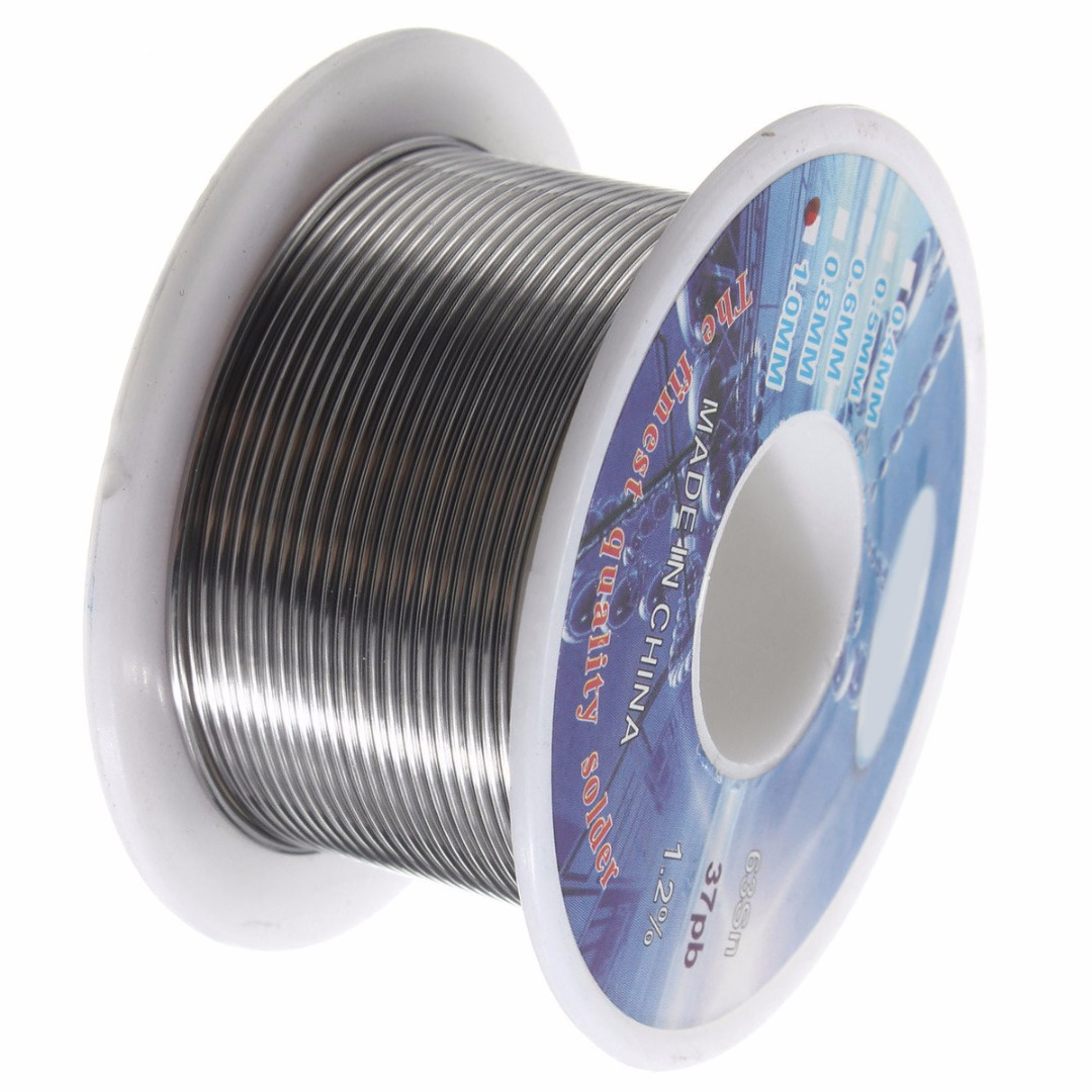 """100g//Roll Tin Lead Rosin Core Solder Wire Electrical 2.0/% Flux 0.039/""""//1.0mm"""