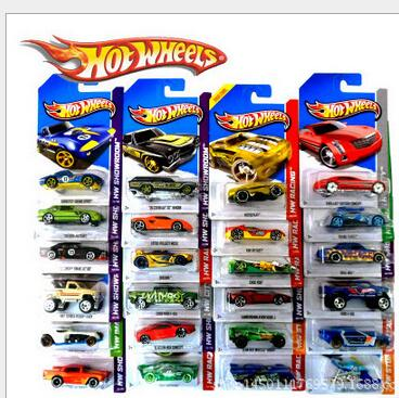 1 car 100% Hotwheels Cars C4982 Random hot sale Original race cars scale models mini alloy cars toy for boys hobby collection(China (Mainland))