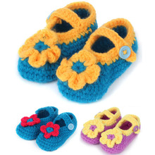 Flower Crochet Baby Booties Newborn Girl Shoes Knitted Infant Slippers Children Accessories 5 Pairs XZ046