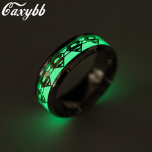 Cexbby Superman Rings for Women New Original Luminous Glow Fluorescent Glow in the Dark Party Jewelry(China)