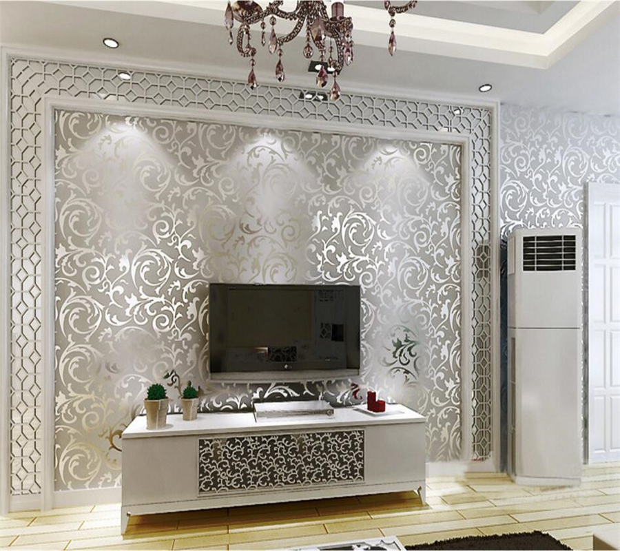 Beibehang European living room bedroom sofa TV background wallpaper bedroom KTV flash gold foil silver foil metal 3d wallpaper<br>