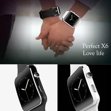 Fashion X6 Smartphone Watch 1.54''Curved Touch Screen Smartwatch Phone Facebook SYNC MP3 Pedometer Smart Watch Anti Lost Watches