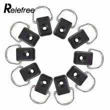 Relefree 10pcs Steel Canoe Kayak Outfitting Fishing Rigging Bungee Kit Accessory Boating Watersports Brand New(China)