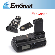 Original Meike LCD Battery Grip Pack Holder w/ IR Remote for Canon EOS 550D 600D 650D 700D as LP-E8  B4K Free Shipping