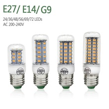 E27 E14 G9 LED Corn Bulb SMD 5730 LED Light 24 36 48 56 69 72LEDs 220V 230V Chandelier Candle Lamp Home Decoration Lighting(China)