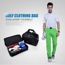 Brand PGM Golf Clothing Bag Men Black Shoes Package Bags Large Capacity Double-deck Clothes Bag(China)