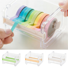 1 PC Japanese Stationery Masking Tape Cutter Washi Tape Storage Organizer Cutter Office Tape Dispenser Office Supplies(China)