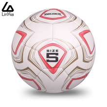 2017 High Quality Match Trainning Soccer Ball Size 5 Sports Slip-resistant Football Machine Stitched PVC Ball With Metal Gas Nee