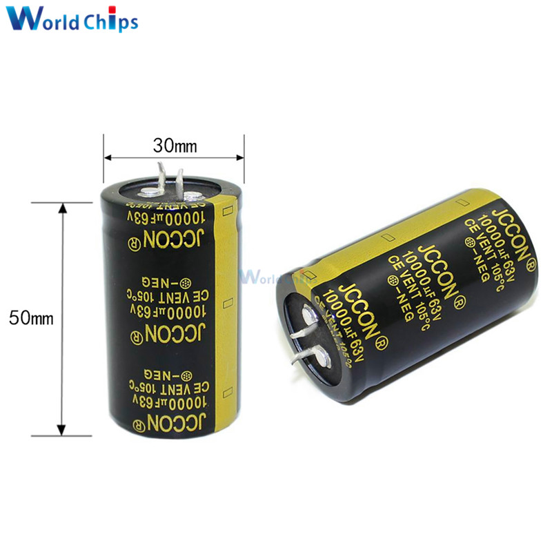 Snap In 8200uF 63 Volt Aluminum Electrolytic Capacitors 5