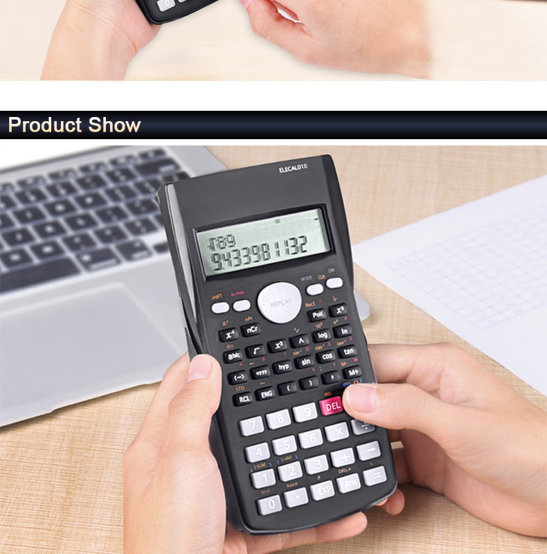 EASYIDEA Scientific Calculator 12 Digits Student Calculadora 240 Multi-function Calculator Cientifica 2 Line LCD Display 7