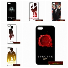 James Bond 007 Hard Phone Cases Cover For iPhone 4 4S 5 5S 5C SE 6 6S 7 Plus 4.7 5.5