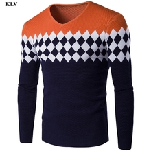 Autumn Winter Long Sleeve Casual Stitching Warm Sweater Men Knitted Pullover Knitwear Male Boy Fashion Outwear Tops Blouse Dec27