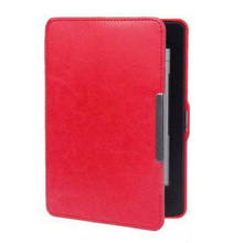 Slim Magnetic Leather Smart Case Cover for Amazon Kindle Paperwhite 1 2 3 WiFi red(China)