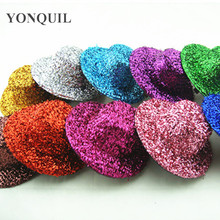 "Free shipping  4""(10cm) 10 colors avaliable  mini top fascinator hats,blingbling children party hats,24 pieces/lot MH004"
