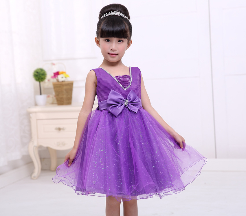 2 to 8Years Baby Girls Clothes Dress Purple Blue Christmas Princess Dress Roupas Infantis Menina Sequined dress Party Dresses<br><br>Aliexpress