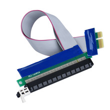 (USA Respone) PCI-E Express 1X To 16X Riser Card Extender Extension Ribbon Flex Adapter Cable