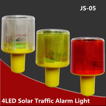 4LED Solar Warning Lights , Traffic / Tower Signal Lamp , Red/yellow/white Flash light