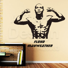 Good quality art new design home decoration Floyd Mayweather boxer vinyl wall sticker removable boxing sports room decor decals