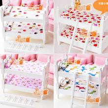 G05-X430 children baby gift Toy 1:12 Dollhouse mini Furniture Miniature rement children bunk beds 1pcs(China)