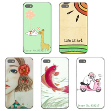 Case For Blackberry Z10 BB10 Back Cover Shell Skin Shield Cartoon Girl Design Coloured Drawing Soft Protect Phone Covers