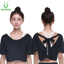 VANSYDICAL Women Shirt Summer Short Sleeve Fashion Casual Crop Top Breathable Shirts Quick Dry for Female(China)