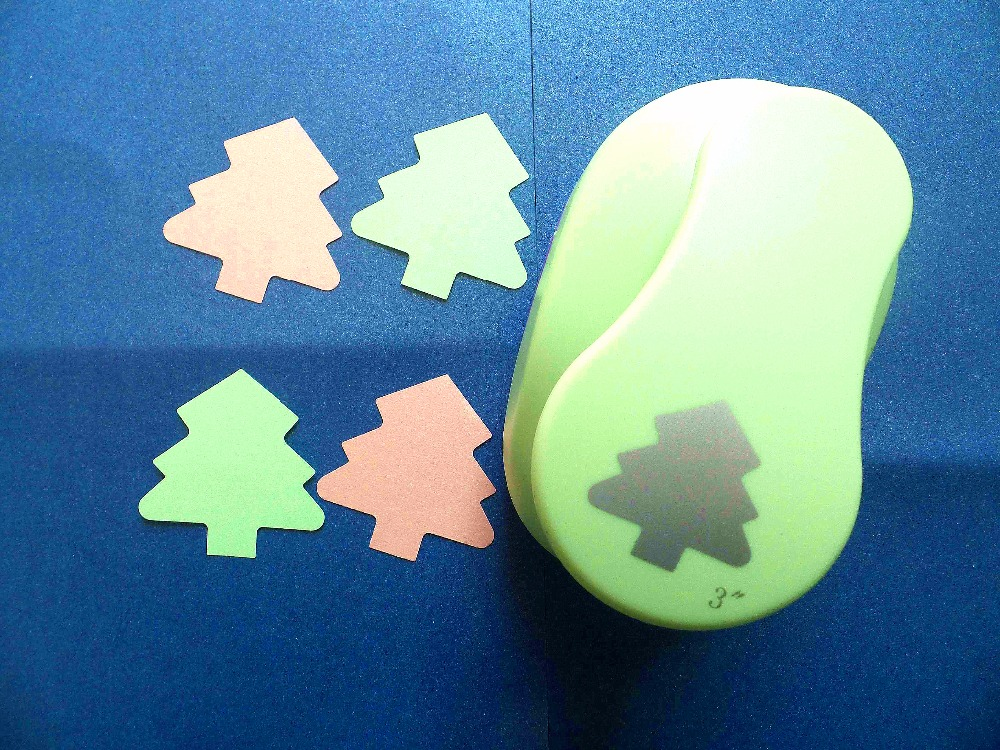 free shipping 3(7.6cm) christmas tree EVA foam punch craft punch DIY puncher greeting card puncher Scrapbook puncher puncher<br>