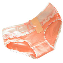 Buy Women Briefs Panties Candy Color Lace Cotton Sexy Soft Lace Bow-knot Underwear Knickers