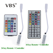 DC 12V 24 Keys 44 Keys IR Remote Controller / Control RGB Colors Dimmer For SMD3528 SMD5050 LED Strip Light No Battery(China)