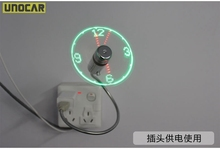 50pcs  Durable Adjustable USB Gadget Mini Flexible Time LED Clock USB Fan with LED Light Cool Gadget Time Display Wholesale