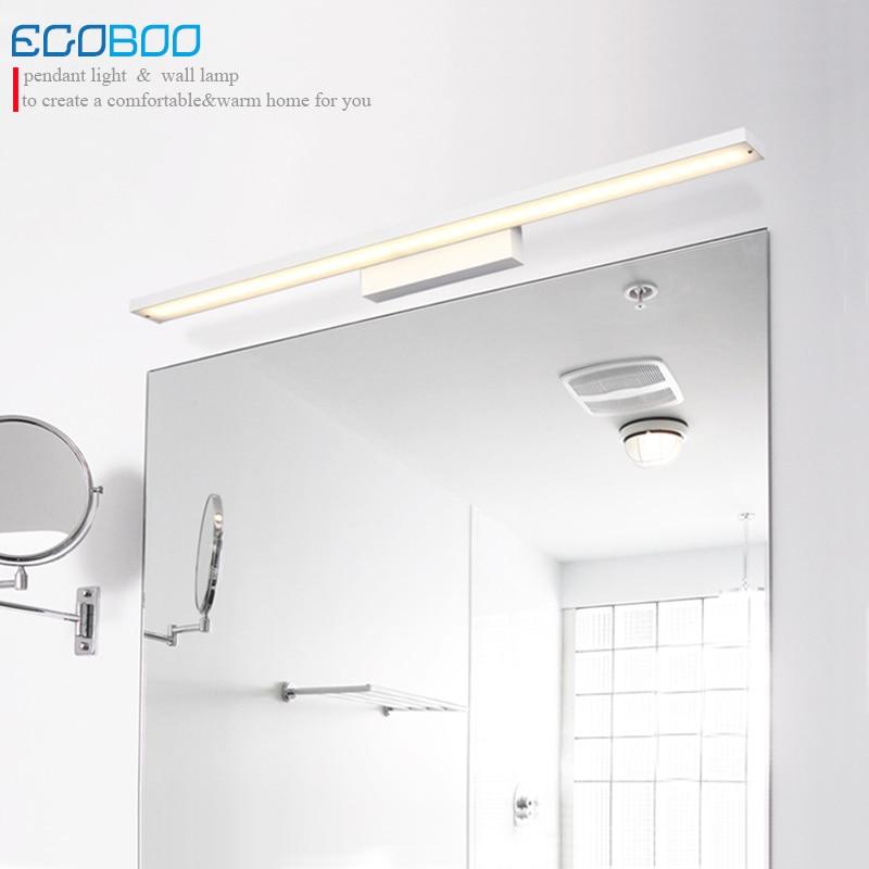 Modern 12w 60cm long white Aluminum lampshade LED bathroom mirror lighting light 220V AC Illumination furniture