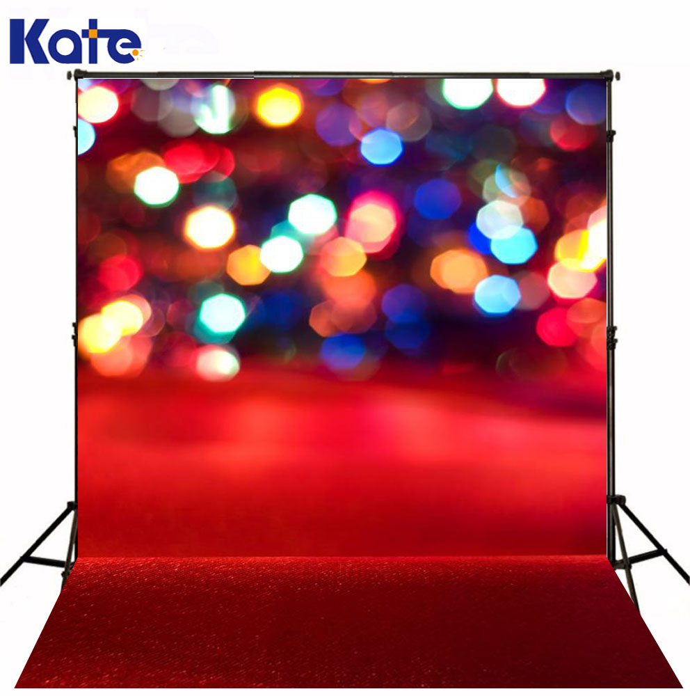 Christmas Backdrops Photography Red Background Bright Spot Photography Backdrops With Lights For Children<br>