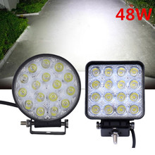 10PCS/Lot 48W Car Spot Worklight Lamp Truck Motorcycle Off Road Fog Lamp Tractor Car LED Headlight driving light Square/Round(China)