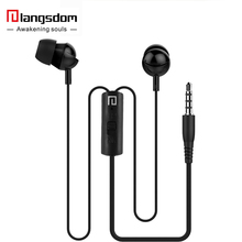 Langsdom IN3 3.5mm Stereo Bass Earphone With Mic Ear Cup for Apple For iphone 4 4S 5 5S 6 For Samsung For HTC For Sony(China)