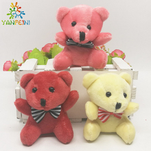 New 8CM Soft Teddy Bears Plush Toys Stuffed Animals Bear Dolls with Bowtie Kids Toys for Children Birthday Gifts Party Decor
