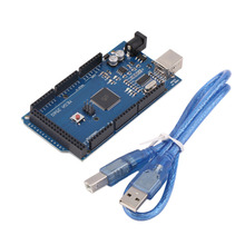 Mega 2560 R3 REV3 ATmega2560-16AU Board USB Cable Compatible 256 KB of Which 8 KB Used by Bootloader For Arduino Eletronic Hot(China)