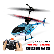 Mini 3.5CH High Speed RC Helicopter Drones LED Sky Light Show Racing Drone 6 Pattern Change Quadcopter With 3 Frequency RC Toys!(China)