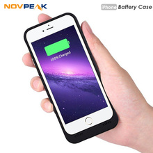 Novpeak for iPhone 7 Charger Case Ultra Thin External Battery Case Rechargeable Backup Powerbank Case for Apple iPhone 6 6s 7 8(China)
