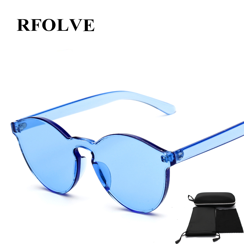 RFOLVE GIRL REAL Top Quality Transparent Glasses Round frame sun glasses Shades Female UV400 Eyewear Sweet Color RF87916<br><br>Aliexpress