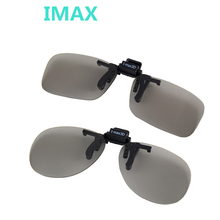 Fashion Universal Clip on Polarized Circular 3D Glasses for myopia Passive Home TV IMAX Cinema Movie Film