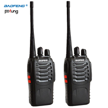 2 PCS Baofeng BF-888S Walkie Talkie bf 888s 5W Two-way radio Portable CB Radio UHF 400-470MHz 16CH Professional taklie walkie(China)