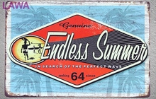 1 pc Endless summer surfing beach sea plaques commercial tin plate vintage tin Sign Wall Decoration shop Metal garage Man cave