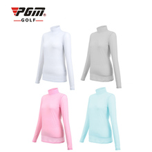Outdoor Sport Viscose Shirt PGM Womens Summer Clothing Underwear Golf Sunscreen UV Ice T-shirts Long Sleeve Clothes Golf Apparel