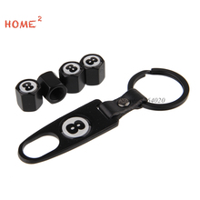 Car Beauty Maintenance Wheel Tire Parts Valves Stem Caps with a Keyring for Land Rover Lexus Jaguar Infiniti Harley Chrysler KIA(China)