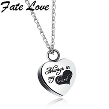 Fate Love 2017 New Designed Heart Necklace&Pendant Women's Jewelry Valentines Surprise Gift Detachable Hide Secret Chain GX1252(China)