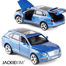 New 1:32 Bentley Bentayga SUV Alloy Diecast Car Model With Pull Back Cars Model For Kids Toys Birthday Gifts Collection