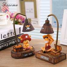 DOSOMA Home Decoration Anime Related Products Tony Tony Chopper Monkey D.Luffy Night Light Table Lamp Resin Crafts Decoration