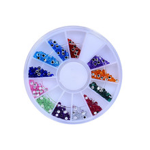 Wholesale 3D Acrylic Nail Art Tips Stud DIY Decoration Glitter Rhinestones Wheels 2017 Hot product discount beauty(China)