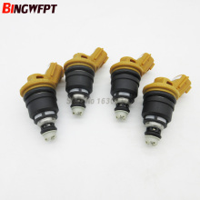 4pcs/lot 555cc yellow side feed fuel injector for Nissan RB25DET SR20DE SR20DET S13 Nismo 16600-RR543